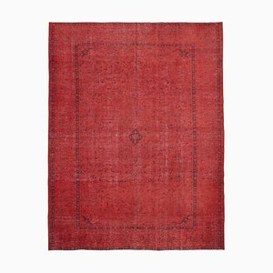Vintage Red Overdyed Large Area Rug