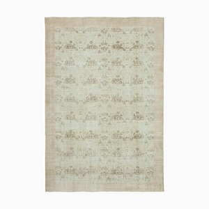 Vintage Turkish Beige Area Rug