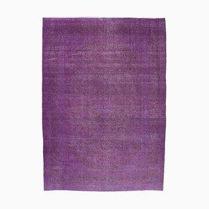 Purpurfarbener Überfärbter Vintage Area Teppich
