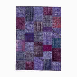 Vintage Purple Patchwork Rug