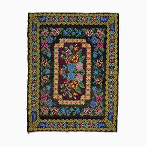 Schwarzer Moldovan Vintage Kilim Teppich