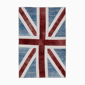 Vintage Patchwork Flickenteppich aus Britische Flagge