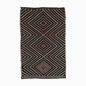 Türkischer Vintage Kilim Teppich in Braun