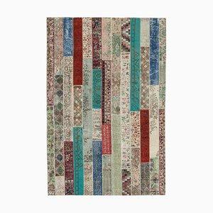 Mehrfarbiger Moderner Vintage Patchwork Teppich