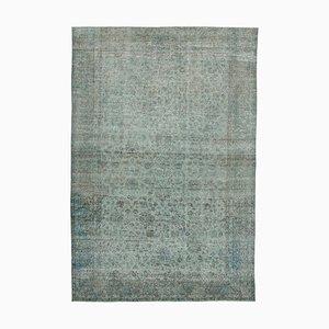Grau Eingefärbter Vintage Teppich