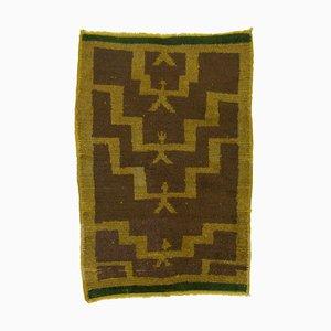 Gelber Vintage Tulu Teppich