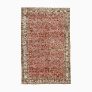 Türkischer Vintage Teppich in Rot