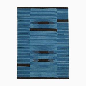 Blauer Vintage Teppich