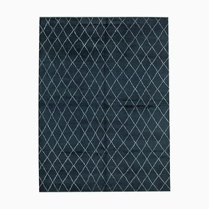 Schwarzer Marokkanischer Vintage Teppich
