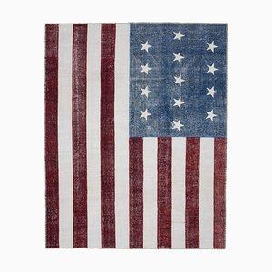 Vintage Usa Flag Patchwork Teppich