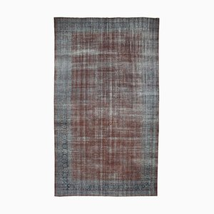 Large Vintage Grey Overdyed Area Rug