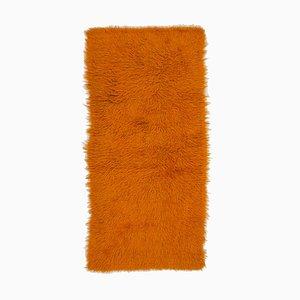 Orangefarbener Vintage Tulu Teppich
