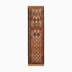 Vintage Brown Boho Runner Rug