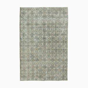 Grüner Böhmischer Vintage Teppich