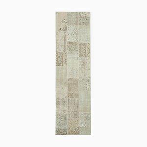 Vintage Patchworcker Teppich in Beige