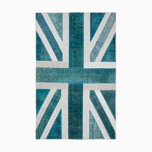 Vintage Patchwork Teppich mit britischer Flagge