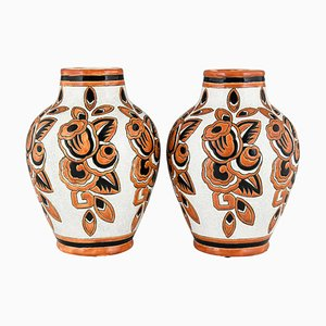 Keramik Vasen von Charles Catteau für Keramis, 1926, Belgium, 2er Set