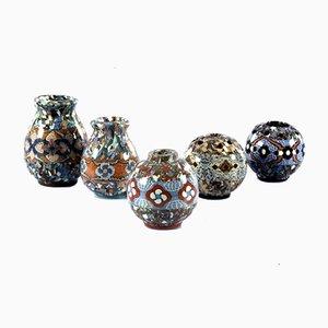Vasen von Jean Gerbino, Frankreich, 1980er, 5er Set