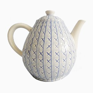 Mid-Century Cross Stitch Teapot by Hedwig Bollhagen for HB Keramik, Germany, 1940s