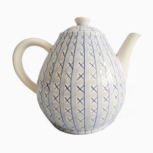 Mid-Century Kreuzstich Teekanne von Hedwig Bollhagen für HB Keramik, 1940er