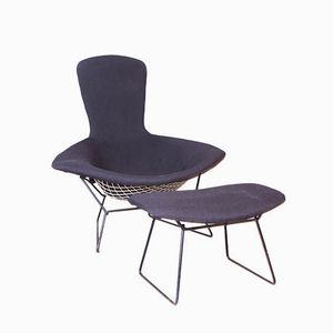 Bird Chair & Ottoman by Harry Bertoia for Knoll, Set of 2