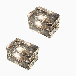 Lampade da tavolo in vetro di Fidenza Vetraria, anni '60, set di 2