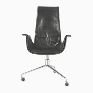 Model Fk 6725 High Back Tulip Chair by Fabricius Kastholm for Kill International, 1964