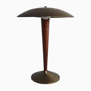 Lámpara de mesa francesa industrial, años 30
