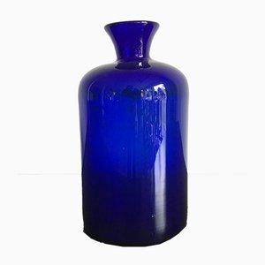 Blaue Skandinavische Vase von Holmegaard, 1960er