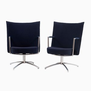 Vintage EJ70 Partner Chairs by Joannes Foersom & Peter Hiort-Lorenzen for Erik Jørgensen, Set of 2