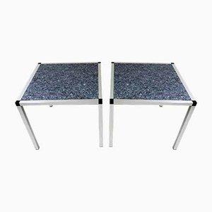 Granite Side Tables, 1980s, Set of 2