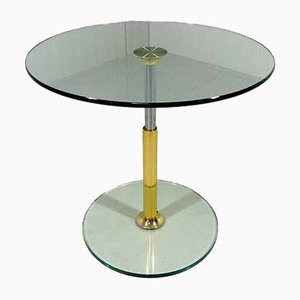 German Glass Side Table by Peter Draenert, 1980s