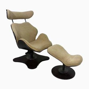 TOK Lounge Chair & Ottoman by Toshiyuki Kita for Stokke, 2000s, Set of 2