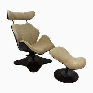 TOK Sessel & Fußhocker von Toshiyuki Kita für Stokke, 2000er, 2er Set