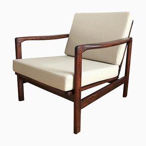 Beige B-7752 Lounge Chair by Zenon Bączyk for Swarzędzkie Fabryki Mebli, 1960s