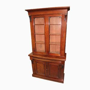 Mahogany Chiffonier Bookcase with Glazed Top, 1910s
