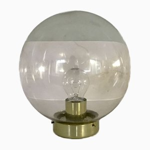 Hand Blown Globe Ceiling Lamp / Wall Light from Raak, 1960s
