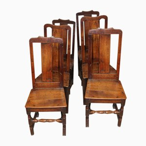 Oak Harlequin Dining Chairs, Set of 6