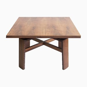 Model 612 Extendable Walnut Table by Silvio Coppola for Bernini