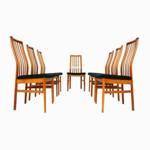 No.170 Dining Chairs by Kai Kristiansen for Schou Andersen, Set of 7