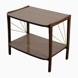 Vintage Mid-Century German TV Table with Shelf, 1950s