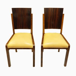 Art Deco Italian Dining Chairs, 1930s, Set of 4