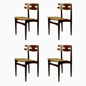 Dänische Teak Modell 178 Esszimmerstühle von Johannes Andersen für Bramin, 1960er, 4er Set
