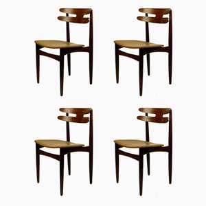 Danish Teak Model 178 Dining Chairs by Johannes Andersen for Bramin, 1960s, Set of 4