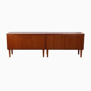 Danish Teak Sideboard Cabinet with Two Patio Doors, 1960s