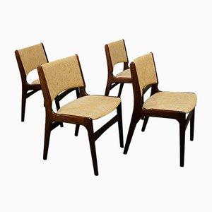 Dänische Mid-Century Palisander Esszimmerstühle von Johannes Andersen für Uldum Mobelfabrik, Dänemark, 4er Set