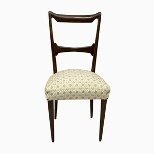 Walnut Dining Chairs by Guglielmo Ulrich, 1950s, Italy, Set of 6