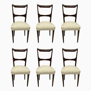 Esszimmerstühle aus Nussholz von Guglielmo Ulrich, Italien, 1950er, 6er Set