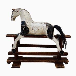 Cavallo a dondolo antico vittoriano di medie dimensioni