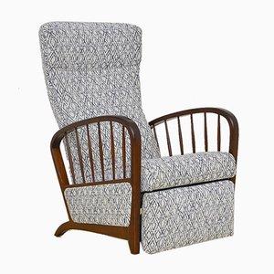 Mid-Century Sessel mit Klappbarer Fußstütze, 1950er
